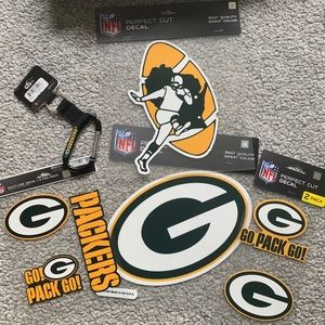 Green Bay Packer Decals - NFL Decals and key ring